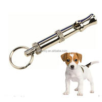 Best Promotion New Adjustable Ultrasonic Supersonic Sound Metal Pet Dog Animal Training Contorl Whistle Keychain Key Ring