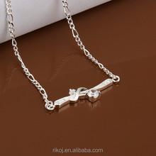 2015 Wholesale crystal bracelet 925 sterling silver fashion jewelry anklet