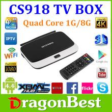 XBMC google android tv box CS918 1G 8G Rk3188 External WiFi Antenna Port:USB,Micro USB,Mic