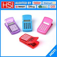 stationery new design plastic clip mini calculator