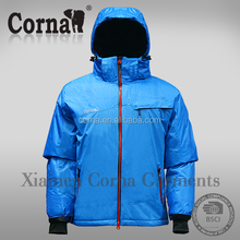 New fashion design ski jacket nylon hiking polyester men hoodie jacket
