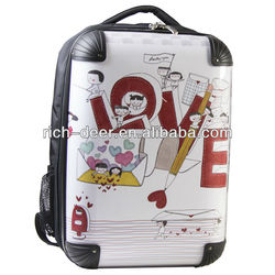 PC material polo luggage with fashionable