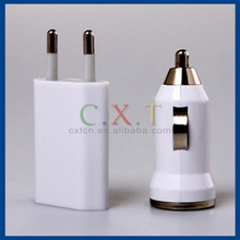 Mini 3 in 1 EU AC Charger + Car Charger + USB Sync & Charge Cable Kit for iPhone3G/3GS/4G
