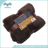 Heating plush fabric 100 polyester coral velvet fleece plain blanket