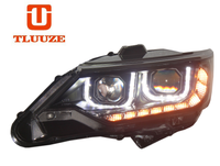 TLZ 2015 TOYOTA Camry U aperture LED corner lamp (with daytime running) Q5 double optical lens xenon headlight assembly