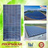 Propsolar house solar panel roofing sheets cost with TUV, CE, ISO, INMETRO certificates