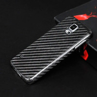 Carbon Fiber Factory Supply For Galaxy S5 Mobile Phone Case , Newest 100% Real Carbon Fiber Cell Phone Cases for Samsung S5