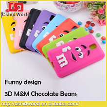 Hot Selling Chocolate Beans Silicone Back Cover For Samsung Note 3 2015 New Products