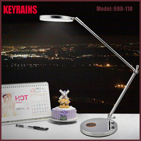 2016 American Style Office Study Hotel Bedside 12vDC 9W Folding Touch Dimmable Metal Led table lamp