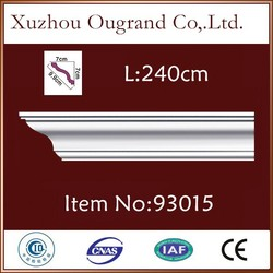 decorative polyurethane foam crown cornice molding for sale