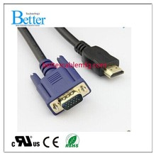 2015 Top Sale Male VGA to HDMI Adapter Cable for PC, TV, Laptop