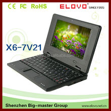 China 7 inch laptop factory 512M/4G Notebook Computer with HD interface WM8850 Android 4.1