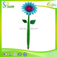 Rubber flower ballpoint top pen promotional flower pen drawing