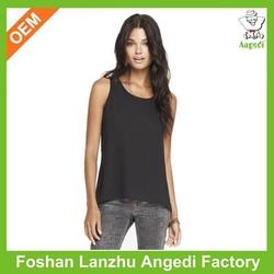Printed Tops women sleeveless irregular sexy design fashion women top