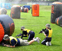 attractive high quality inflatable paintball game, inflatable laser tag, inflatable paintball bunkers