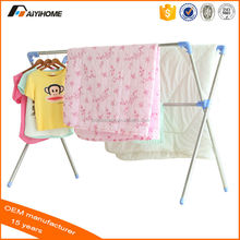 High quality bulk clothes hangers,X-type expandable clothes hanger,Stainless steel retractable clothes hanger