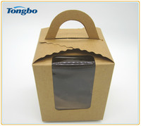 Wholesale disposable kraft paper cupcake boxes