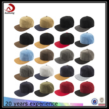 Fashion Wholesale Custom Two Tone Blank Suede Snapback 5 Panel Hat