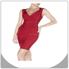 Cheap fashion deep v-neck bandage dress frock design for cutting