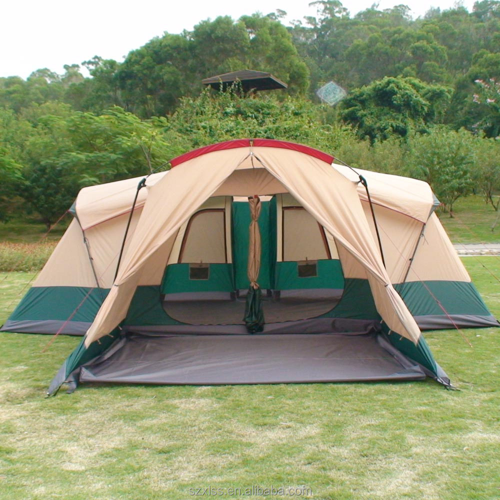 Personnes 6 3 chambre camping safari de luxe tente pour for Tente de chambre