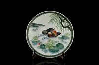 chinese style famous brand high quality underglazed handpainting porcelain plate