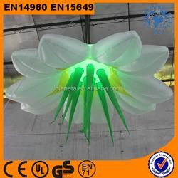 Trade Assurance LED Light Hanging Inflatable Flower For Event Decoration
