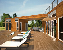 Ready Made Smart Rainproof Low Cost Prefabricated Wood Houses