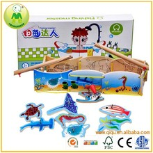 Funny Promotion Kid Wooden Fishing Game Toy Fish
