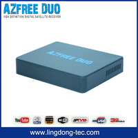 android sks iks for colombia satellite tv receiver Azfree DUO with free iptv FTA(free to air)