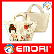 hot sale cheap price fashion cotton canvas tote unique lunch bag for office