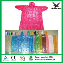 2015 New Promotional Logo Printed Disposable Rain Poncho