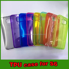 Soft Flexible TPU Cover for Samsung Galaxy S6, Wholesale OEM Mobile Phone Case Supplier