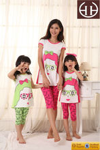 New Arrival Summer Children Cute Odile Cotton Spandex Short Sleeve Dongguan Green Baby Clothing