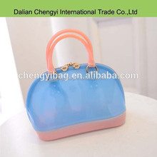Wholesale beatiful candy color ladies silicone beach bag jelly bag