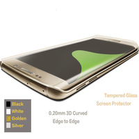 9H Black White Silver Golden ,0.2mm Top classical 3d tempered glass screen protector