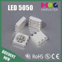 High intensity Harvatek 1400-1800mcd 467-470nm blue 5050 led diode
