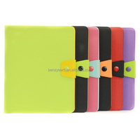 Alibaba china different colors protective tablet pu leather case fit for ipad