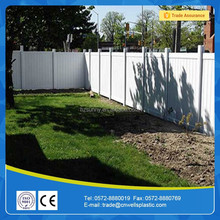 white plastic vinyl beautiful privacy fence