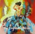 hecho a mano excelente mujer desnuda pintura al óleo moderna