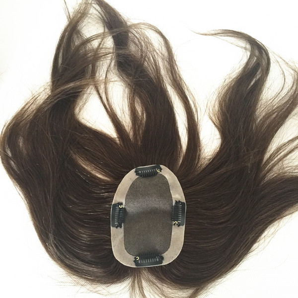 One Piece Clip In Human Hair Extensions Top Closure Hair Piece Clip