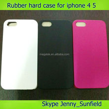 phone case Plain Rubber hard case for iphone 4 4s 5 5s ,for iphone 4s case rubber, for iphone case 4s 5s 6 rubber