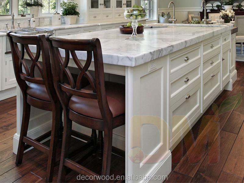 Muebles de madera sólida personalizados para cocina, estilo italiano
