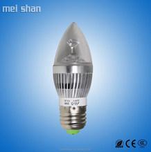 3W aluminum body low power A60 sharp dome shape LED bulb lights