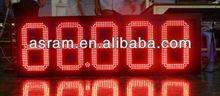 "aliexpress Alibaba Shenzhen Asram LED 10"" 8.889 Waterproof 7segments oil gas station led price sign"