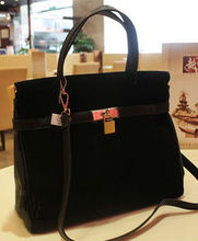 Classic! fashion suede leather handbags for ladies / women