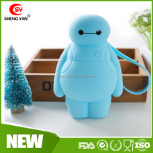 Chrismas gift Funny baymax bulk wholesale silicone coin purse for kids