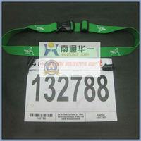 green custom adjustable elastic race belt race number belt GEL holder