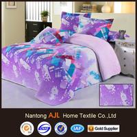 2015 new hot 100% cotton pingment bedspread fabric