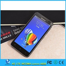 Lenovo A606 LTE 4G FDD Android phone MTK 6582 Quad Core 5.0 inch TFT 854X480 5.0MP Dual SIM