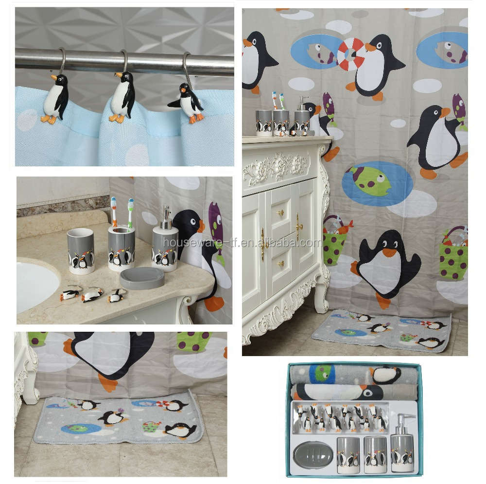 Penguin design bathroom set bathroom accessories set modern buy cheap bathroom accessories - Bathroom accessories sets ikea ...